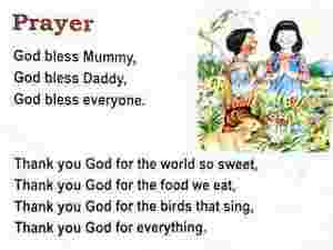 Prayer English Rhymes
