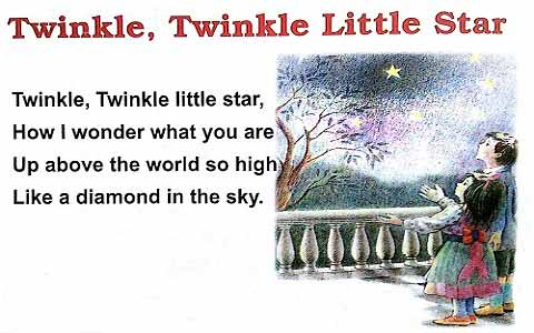 Twinkle Twinkle English Rhymes