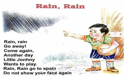 Rain Rain English Rhymes